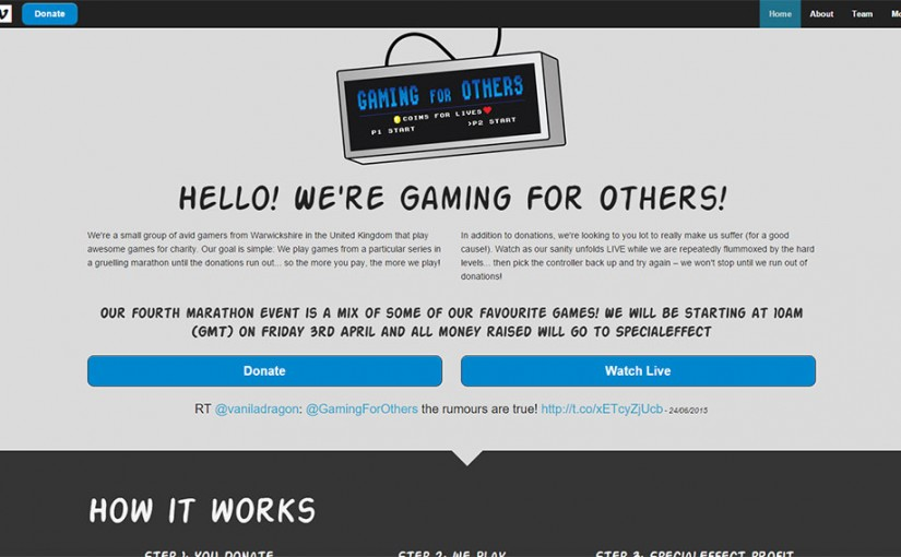 Gaming For Others Responsive Site